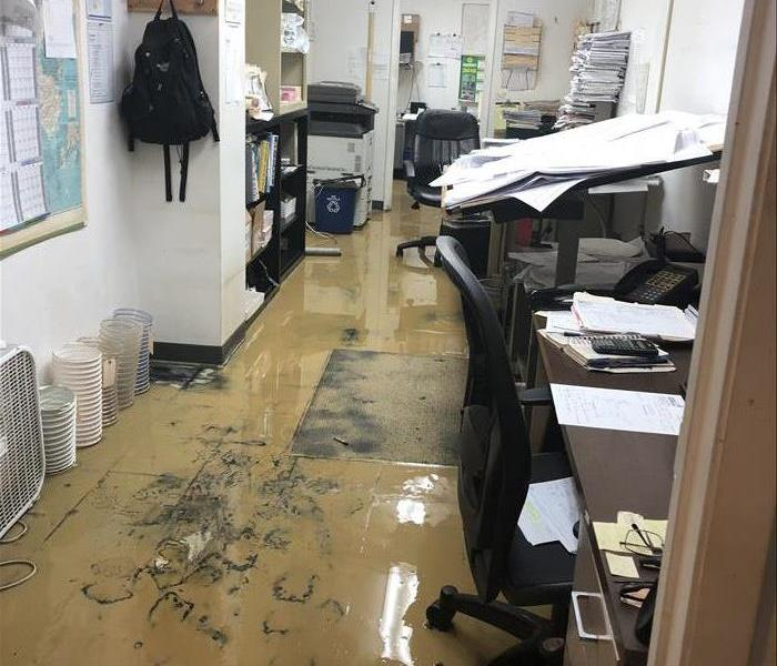 Flooded Office From Storm