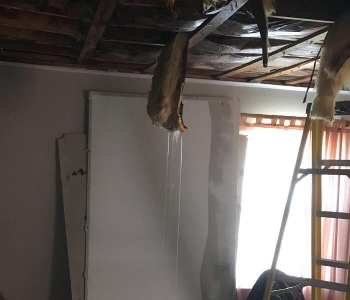 Water Saturated Ceiling