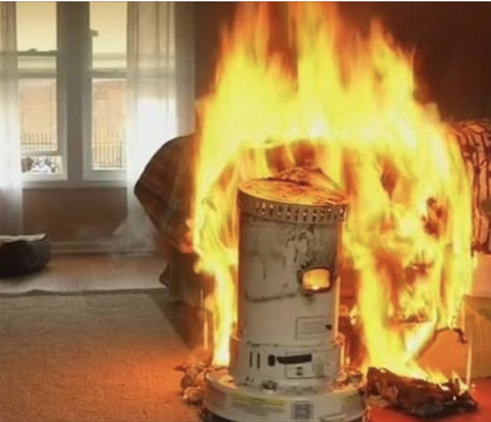 Fire Damage Space Heater Safety